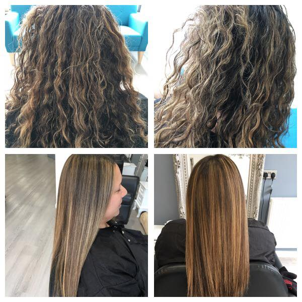 keratin blowdry treatment